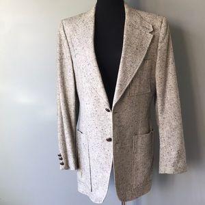 Vintage Gray Donegal Tweed Blazer